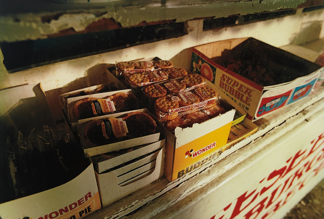 WilliamEggleston-MortonMississippi-SnacksOnShelf-1972
