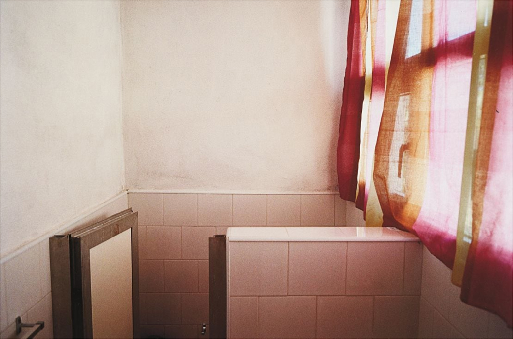 WilliamEggleston-Untitled-BathroomWithPinkCurtainCuba-2000