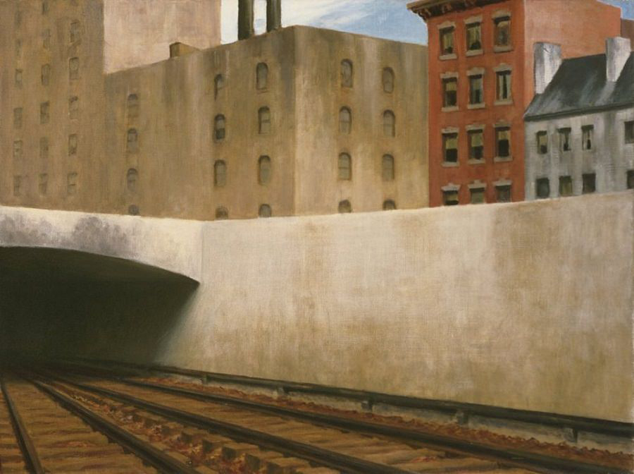 EdwardHopper-ApproachingACity1946