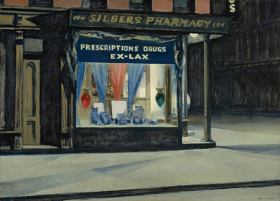 EdwardHopper-Drugstore1927