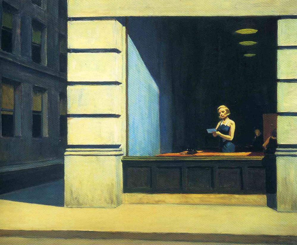 EdwardHopper-NewYorkOffice1962