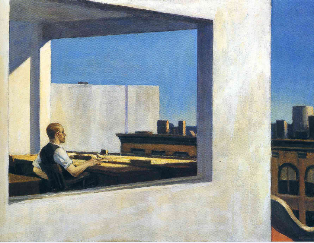 EdwardHopper-OfficeInASmallCity1953