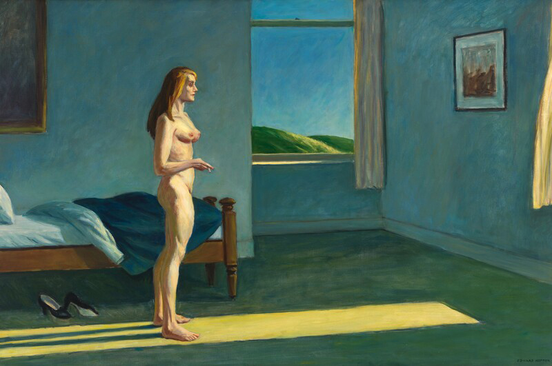 Edward_Hopper-AWomanInTheSun-whitney1961
