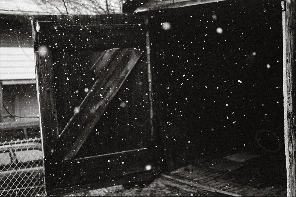 MarkCohen-Snow_and_Black_Garage__March_2004
